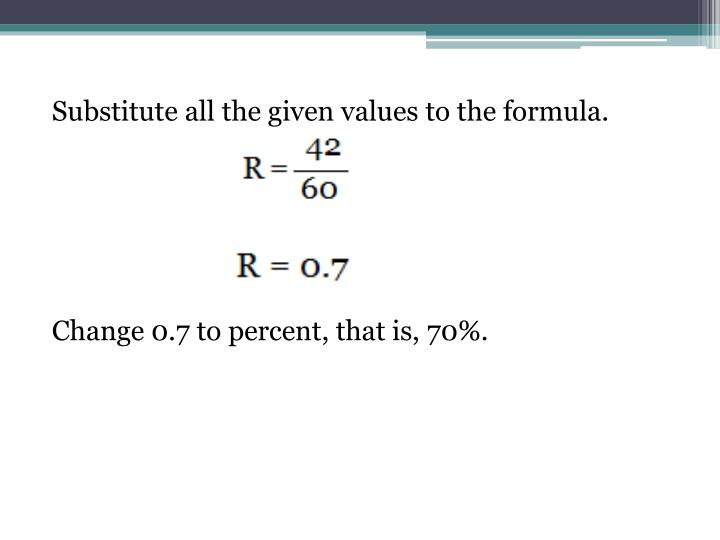 Substitute all the given values to the formula.