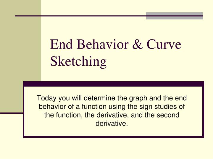 end behavior curve sketching