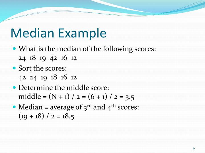Median Example