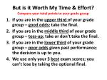 but is it worth my time effort compare your total points to your grade group