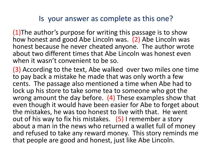 Is  your answer as complete as this one?