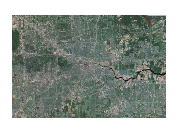 City wide map of Houston