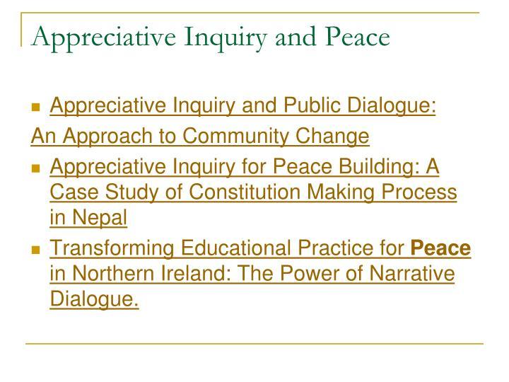 Appreciative Inquiry and Peace
