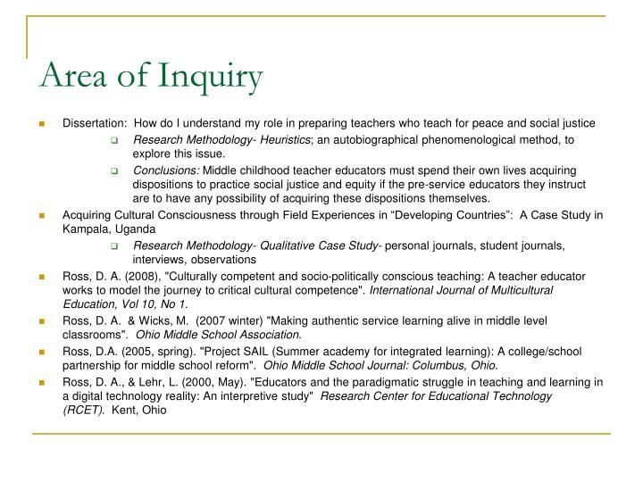 Area of Inquiry
