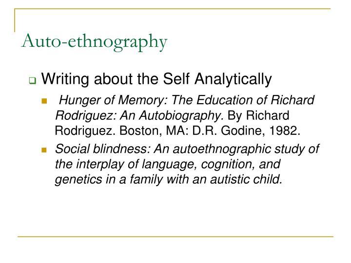 Auto-ethnography