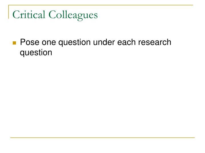 Critical Colleagues
