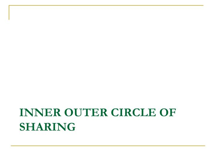 Inner outer Circle of sharing