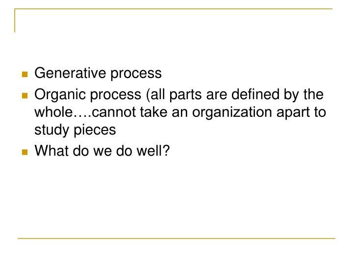 Generative process