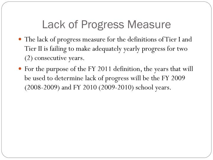 Lack of Progress Measure