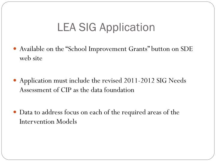 LEA SIG Application