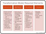 transformation model required elements