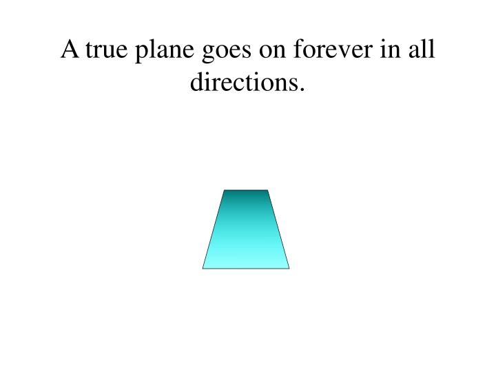 A true plane goes on forever in all directions.