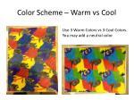 color scheme warm vs cool