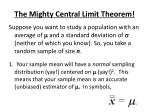 the mighty central limit theorem2