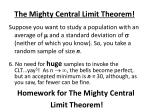 the mighty central limit theorem7