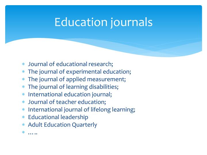 Education journals