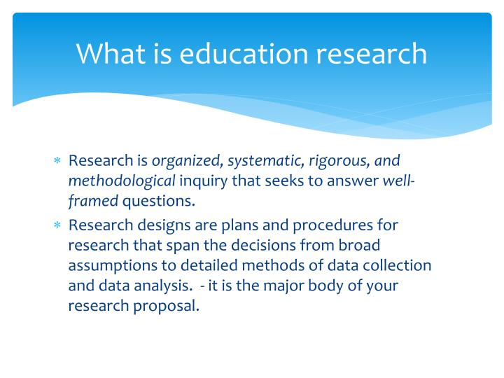 What is education research
