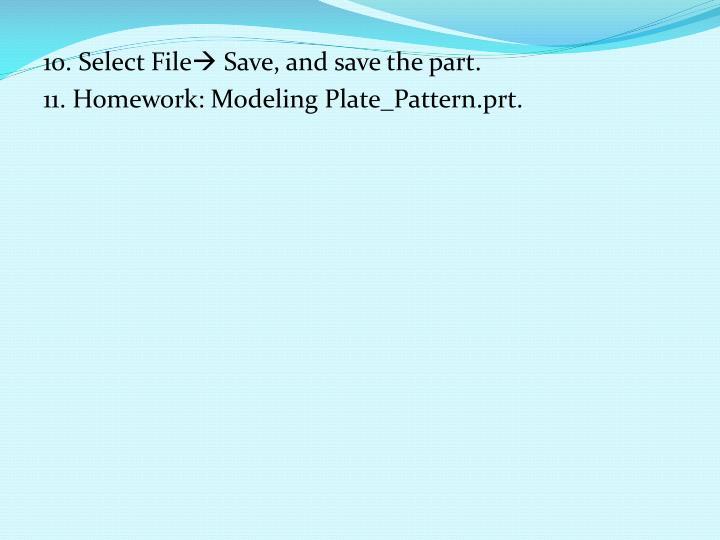 10. Select File