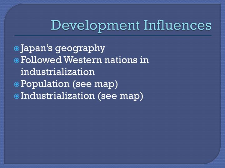 Development Influences