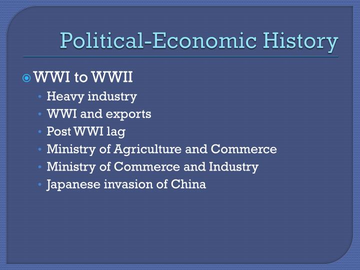 Political-Economic History