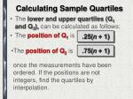 calculating sample quartiles