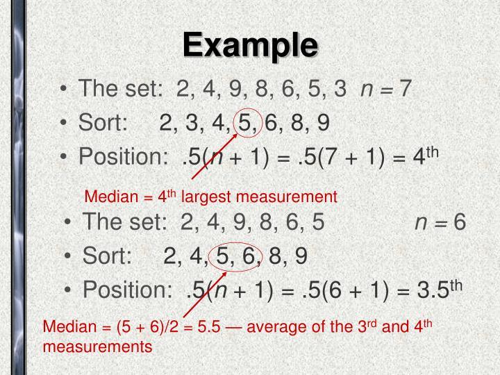 Median = 4