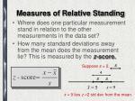 measures of relative standing