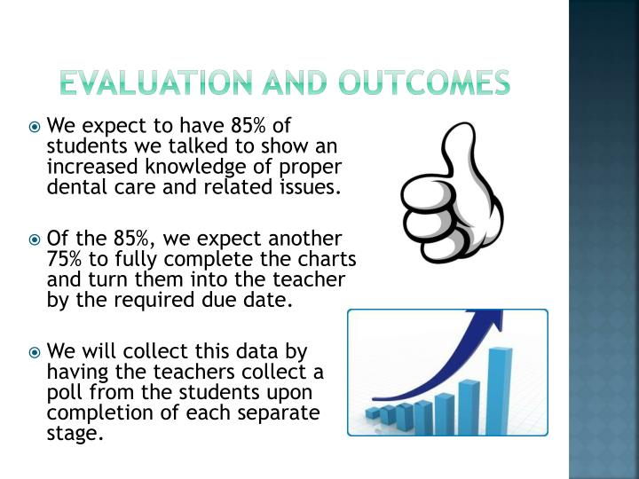 Evaluation and outcomes