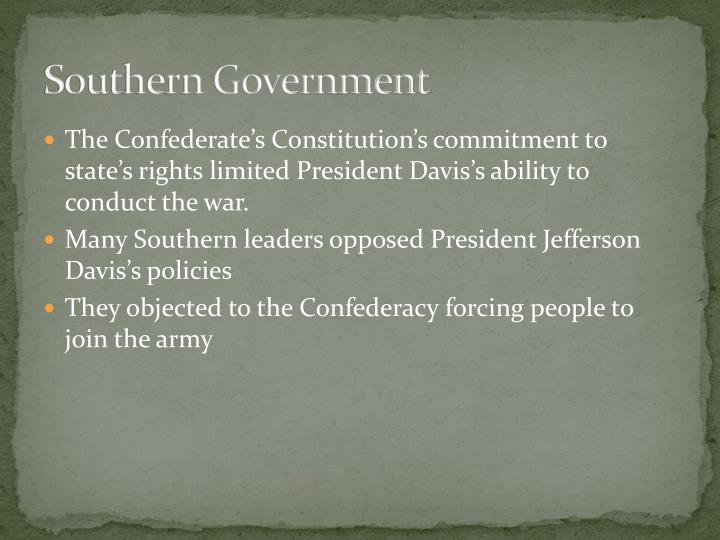 Southern Government