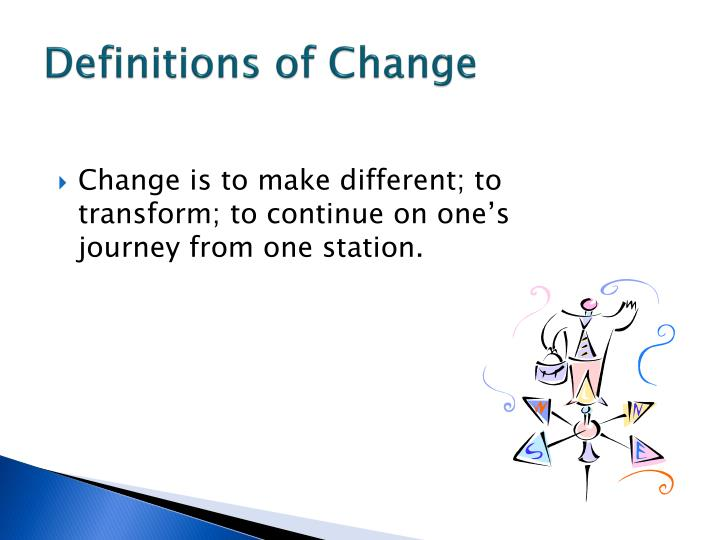 Definitions of Change