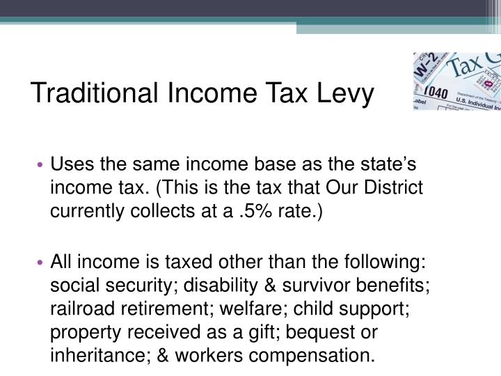 Traditional Income Tax Levy