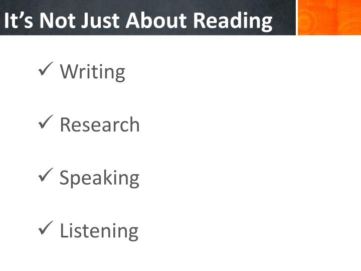 It's Not Just About Reading