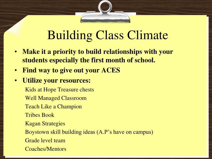Building Class Climate