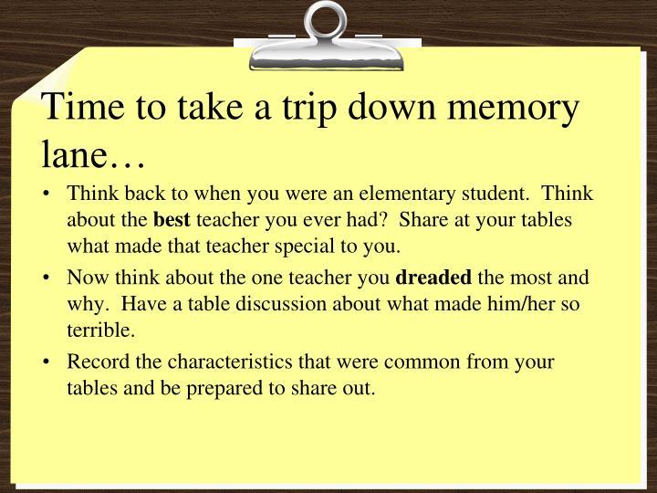 Time to take a trip down memory lane…