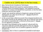 cialdini et al 1975 door in the face study