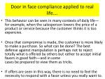 door in face compliance applied to real life