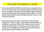 the power of compliance hazing2