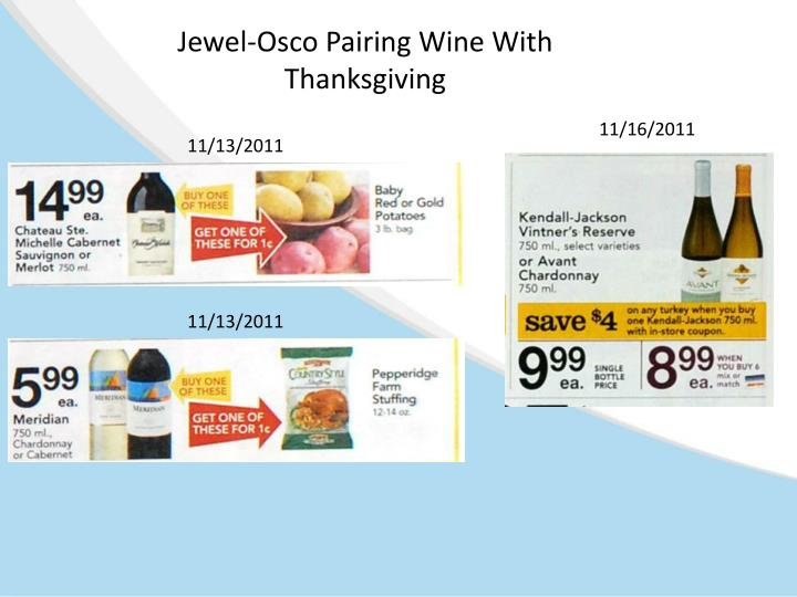Jewel-Osco Pairing Wine With Thanksgiving