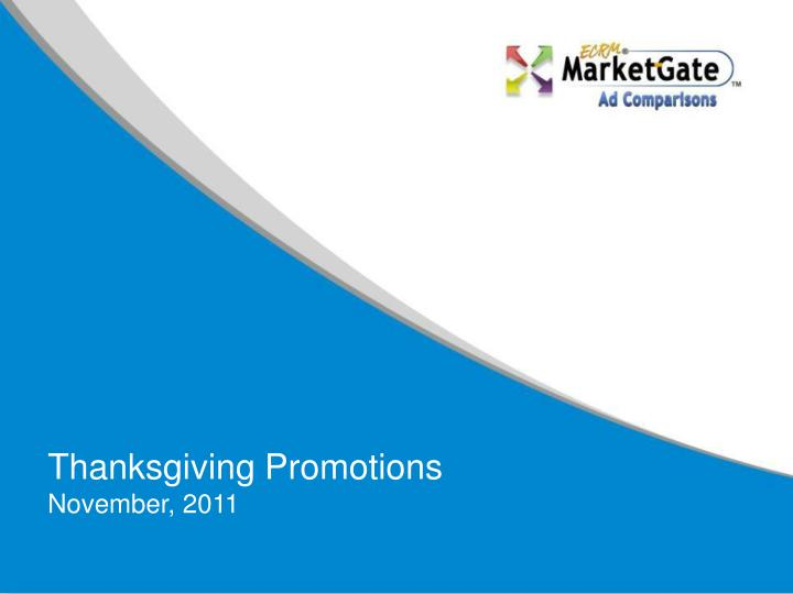 Thanksgiving promotions november 2011