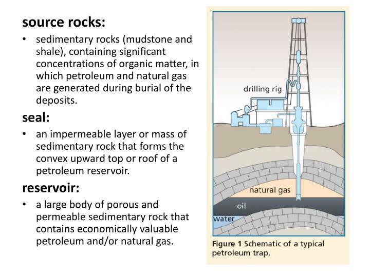 source rocks: