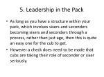 5 leadership in the pack