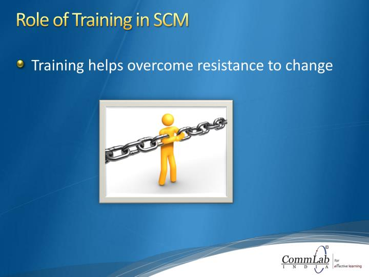 Role of Training in SCM