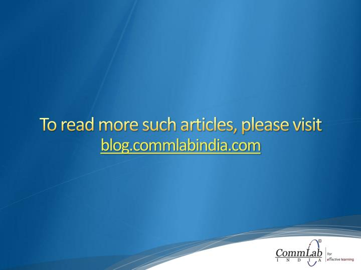 To read more such articles, please visit