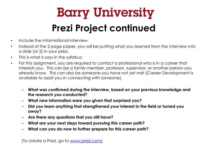 Prezi Project continued