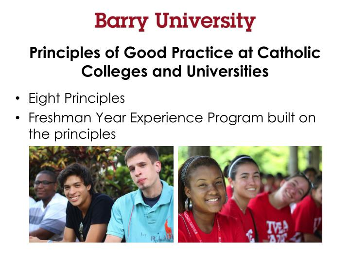Principles of Good Practice at Catholic Colleges and Universities