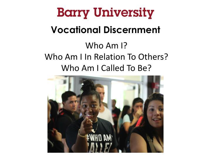 Vocational Discernment