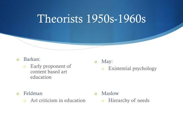 Theorists 1950s-1960s