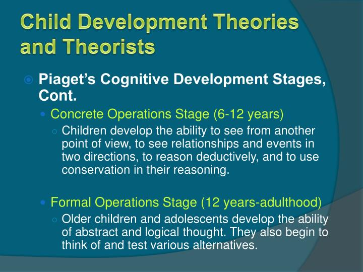 theories on how children develop and Child development theories has different methods they focus on the  development theory on children's stages of growth.