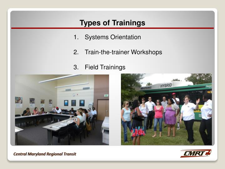 Types of Trainings