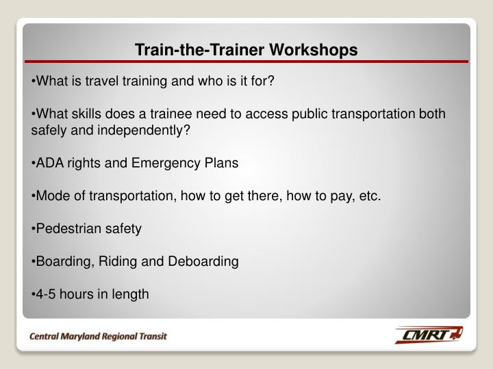 Train-the-Trainer Workshops